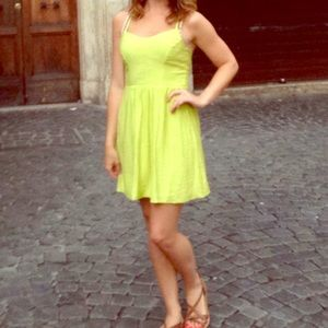 Bcbg lime green dress